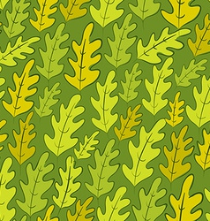 Oak leaves seamless pattern background vector image vector image