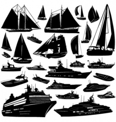 sea transportation vector image