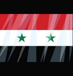 state flag of syria vector image vector image