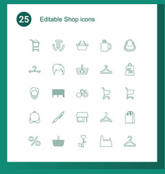 25 shop icons vector