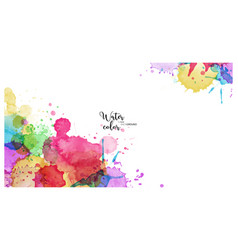 Abstract surface multicolored splash vector