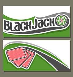 Banners for blackjack vector