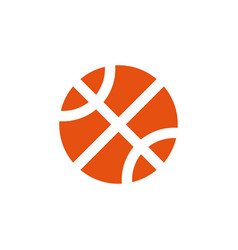 basketball icon design template isolated vector image