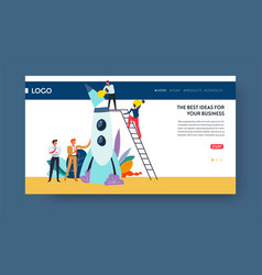 best business idea web page template spaceship vector image