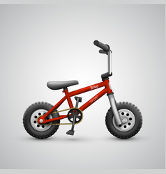 Bicycle child on a white background vector
