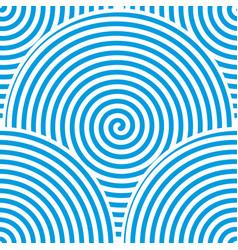blue spiral background vector image