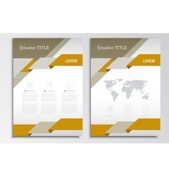 Brochure template A4 format layout Home vector