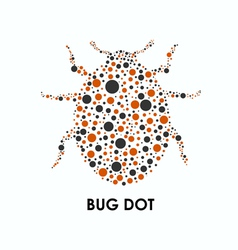 Bug Dot vector image