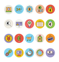 Business and Office Colored Icons 13 vector