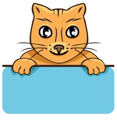 cartoon cat with a poster vector image