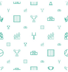 Championship icons pattern seamless white vector