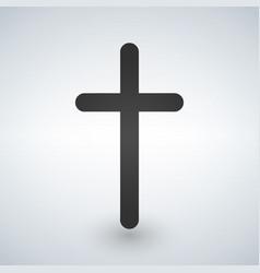 Christian cross icon minimalistic black christian vector
