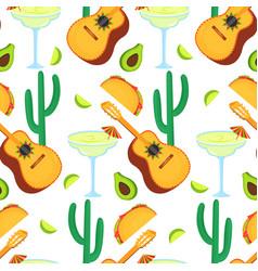 cinco de mayo 5th may guitarrone cactus vector image
