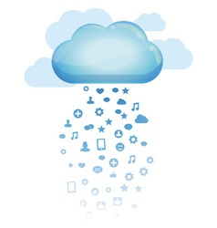 cloud computing concept - vector image