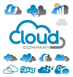 cloud logo vector image