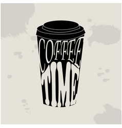 Coffee time hipster vintage vector