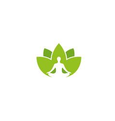 creative yoga person logo vector image