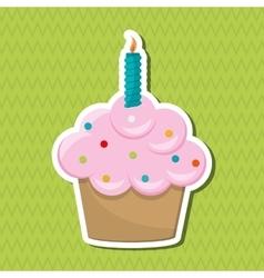 Cupcake icon design vector
