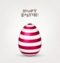 Easter egg spring holidays in april gift vector
