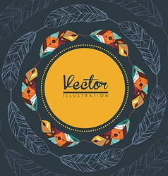 feather decoration vector image