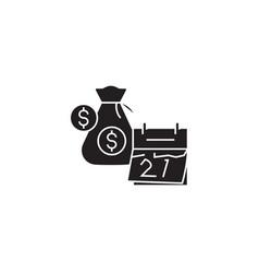 financial planning black concept icon vector image