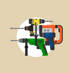 flat design icon electric perforator vector image