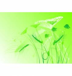 floral background meadow vector image