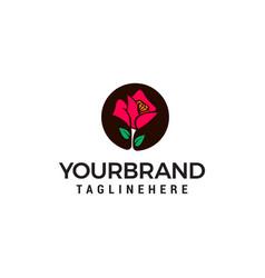 flower logo design concept template vector image