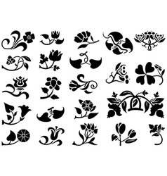 Flower Pictograms vector image vector image