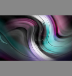 fluid liquid colors design colorful marble or vector image
