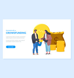 Get started with crowdfunding website page vector