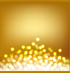 Gold bokeh and lights abstract background vector