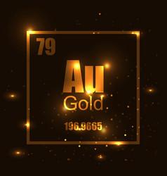 gold molecule vector image