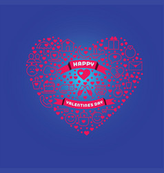 greeting card for happy valentine s day love vector image