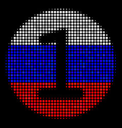 halftone russian one coin icon vector image