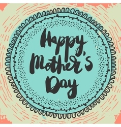 happy mothers day colorful greeting card vector image