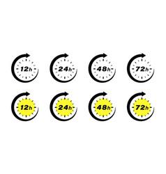 Hours clock arrow vector