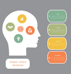 image infographic head of man concept thinking vector image
