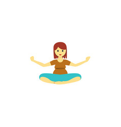 Isolated yoga flat icon meditation element vector