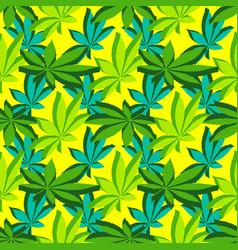 isometric marijuana leafs seamless pattern vector image