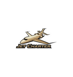 jet charter vector image