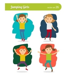 Jumping girls vector