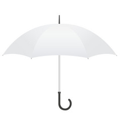light gray open umbrella vector image