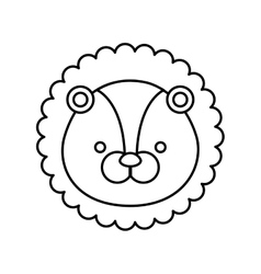 Lion cute animal icon vector