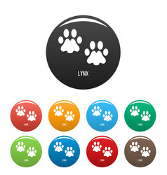 Lynx step icons set color vector