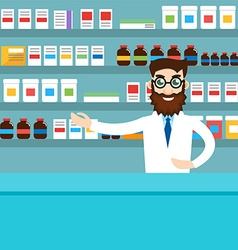 male pharmacist vector image
