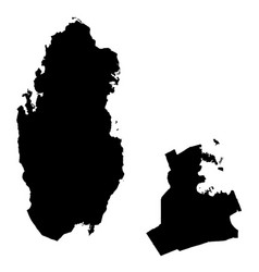 Map qatar and doha country and capital isolated vector