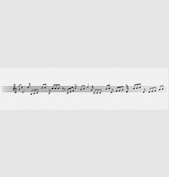 music notes staff pattern for musical design vector image
