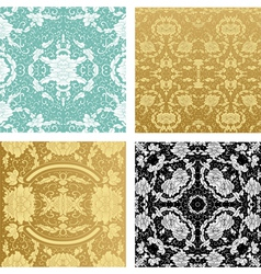 ornamental backgrounds set vector image