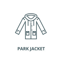 park jacket line icon linear concept vector image